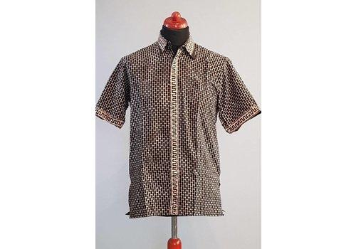 Batik overhemd korte mouw 2991