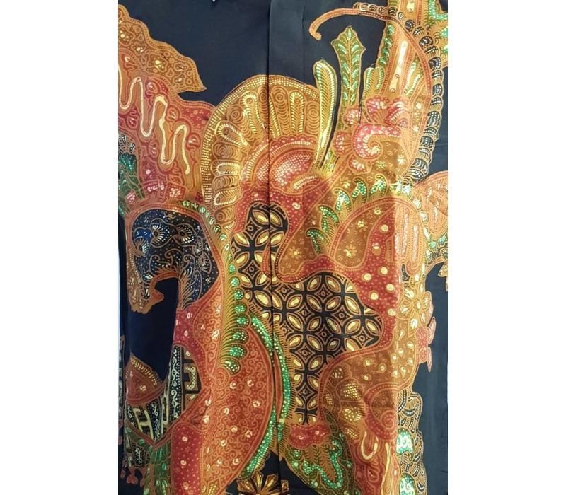Batik overhemd korte mouw 2983