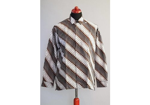 Batik overhemd lange mouw 2995
