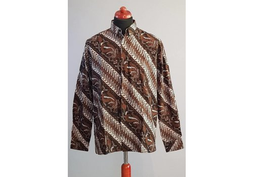 Batik overhemd lange mouw 2996