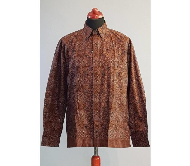 Batik overhemd lange mouw 2998