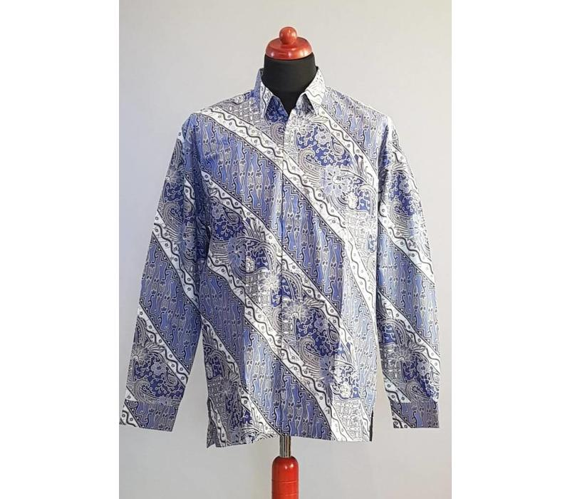 Batik overhemd lange mouw 3004