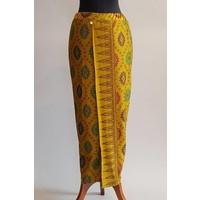 Kebaya oranje Balinese stijl net bijpassende sarong
