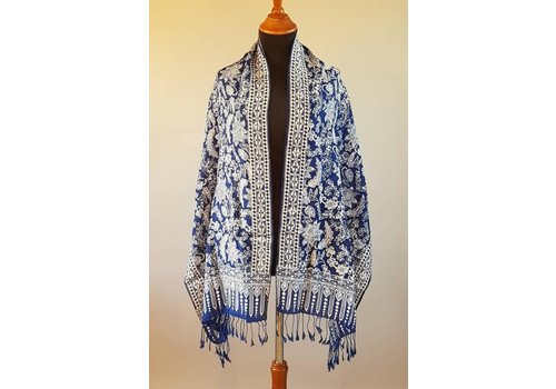 Selendang batik navy blue