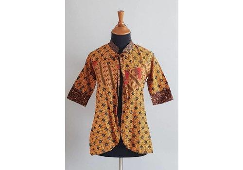 Batik cardigan bruin