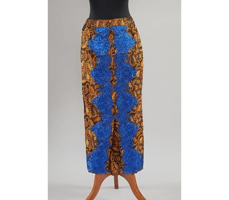 Kebaya marineblauw korte mouw met bijpassende sarong