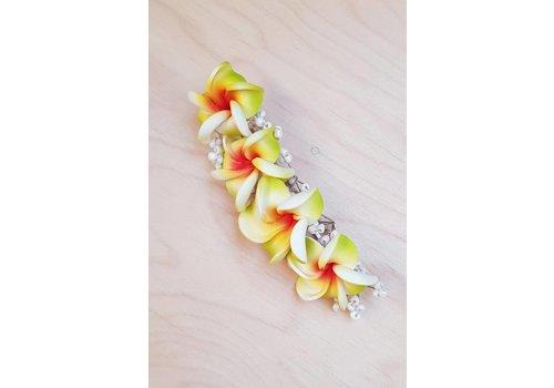 Haarklem frangipani lemongroen