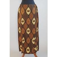 Kebaya glamour beige turquoise met bijpassende sarong