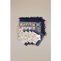 Batik tafelkleed donker blauw