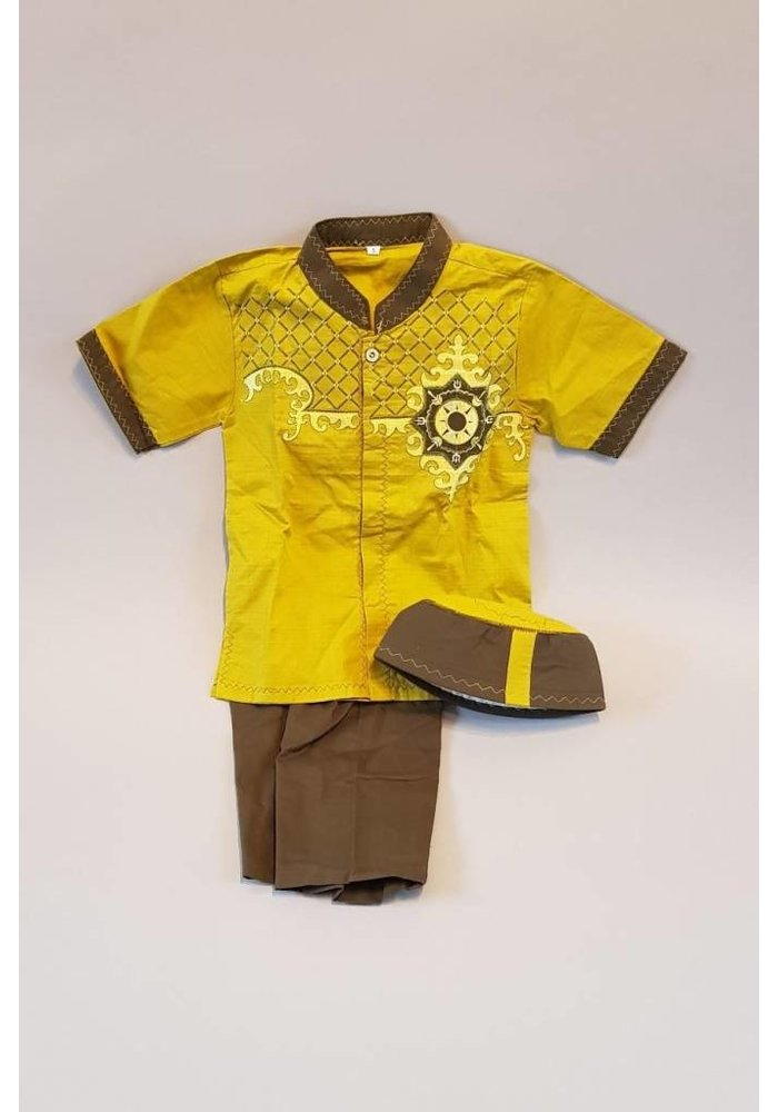 Setje kinder kleding lemongroen