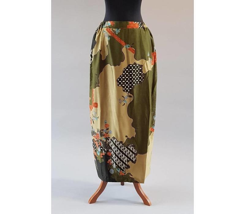 Kebaya lemon groen met bijpassende sarong