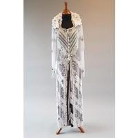 Bruids kebaya parel wit met bijpassende sarong