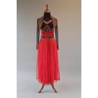 Bruids jurk modern zwart & rood