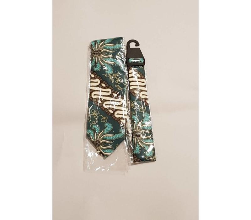 Batik stropdas parang groen