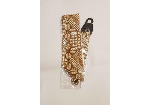 Batik stropdas kawung bruin