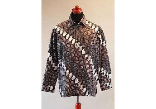Batik overhemd lange mouw 1012-1