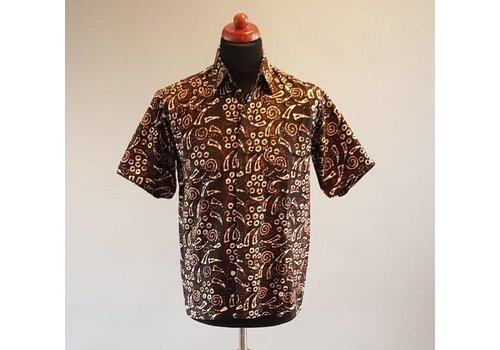 Batik overhemd korte mouw 1012-2