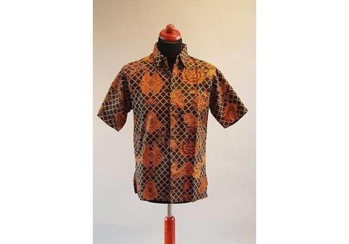 Batik overhemd korte mouw 1012-3