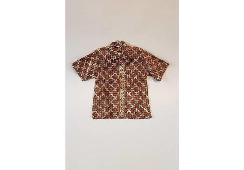 Kinder batik overhemd korte mouw 1012-4
