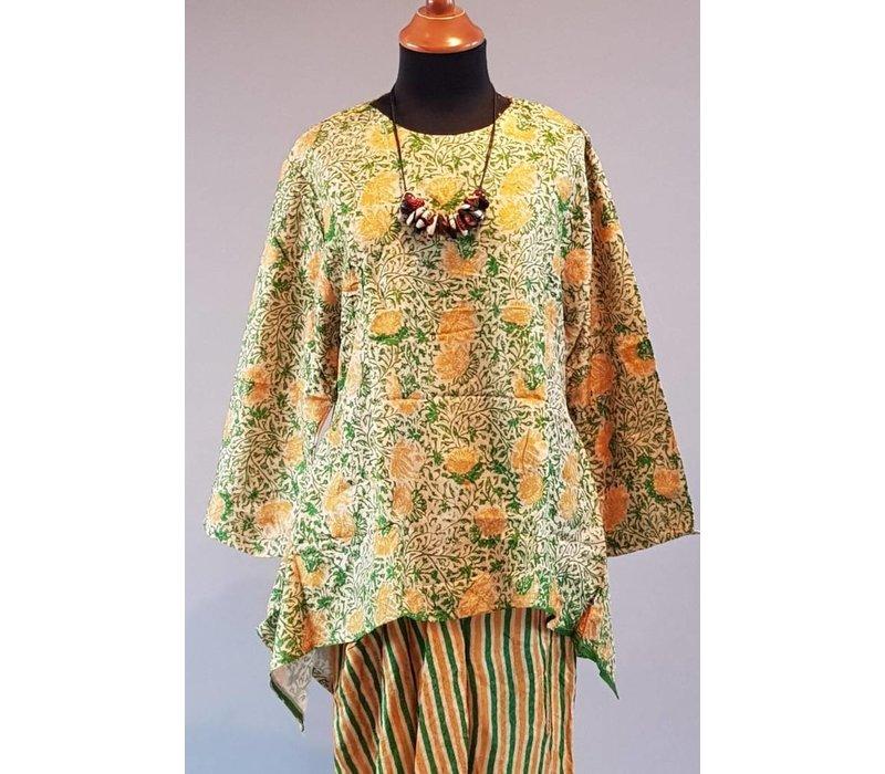Kebaya batik gele groen met bijpassende rok