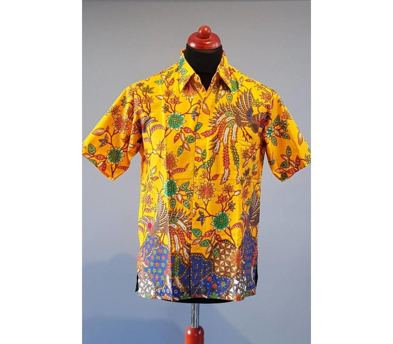 Batik overhemd korte mouw 2202-01