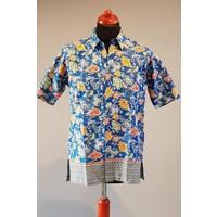 Batik overhemd korte mouw 2202-03