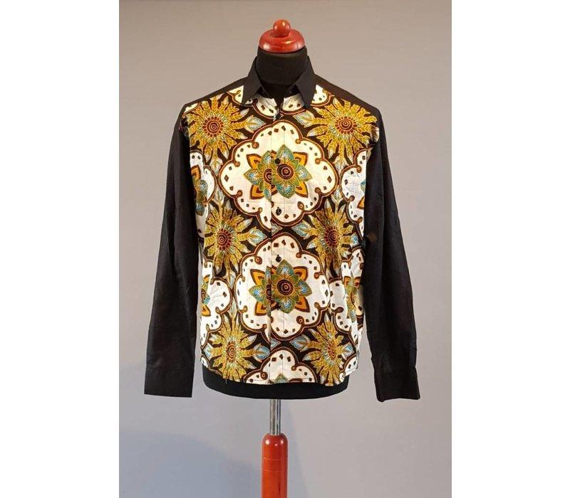 Batik overhemd lange mouw 2202-08