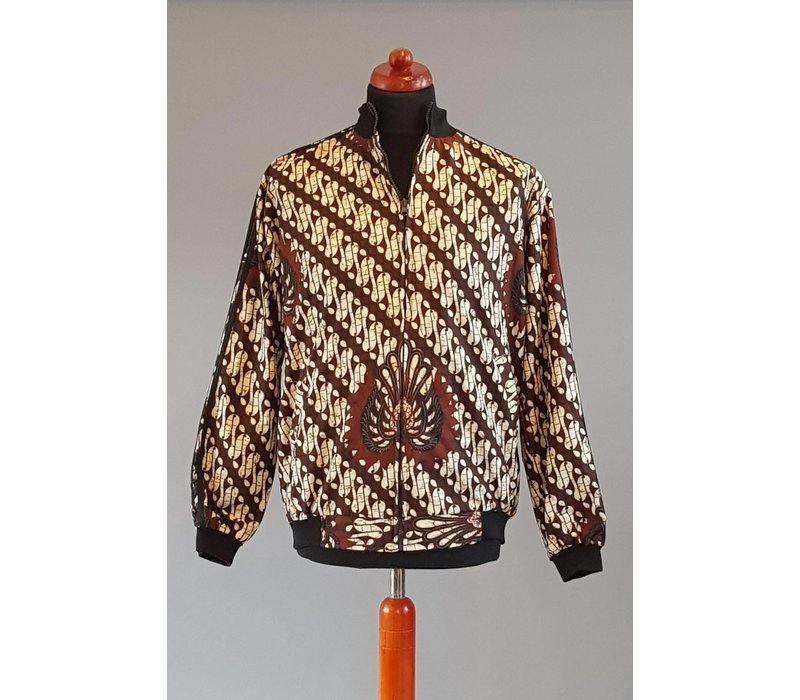 Batik vest met rits