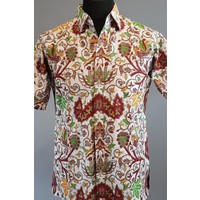Batik overhemd korte mouw 0803-01