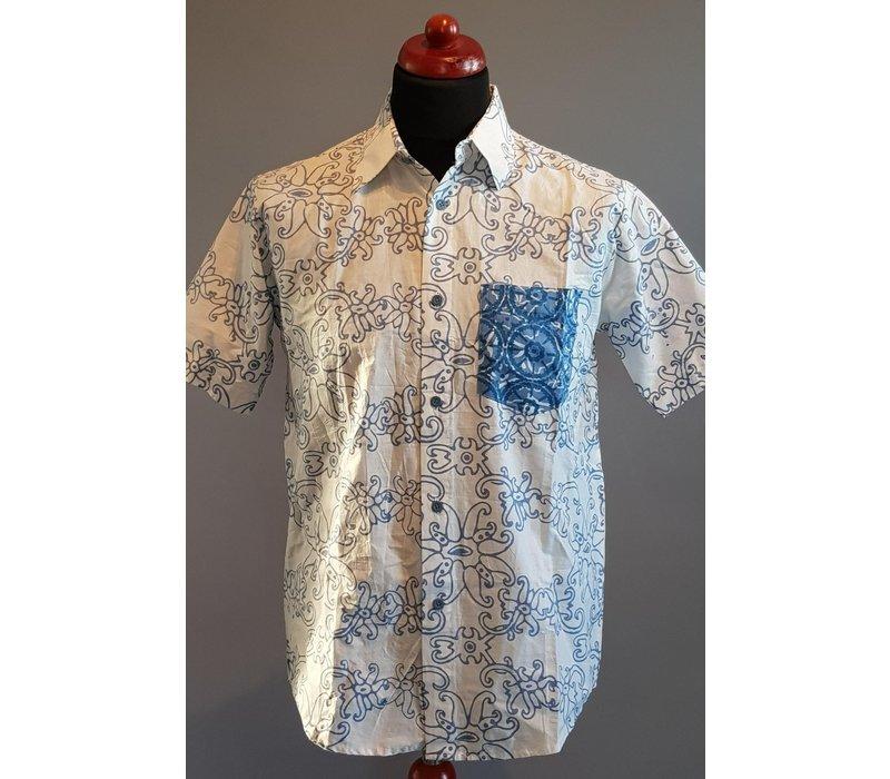 Batik overhemd korte mouw 0903-01