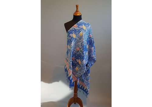 Selendang batik blauwe lucht