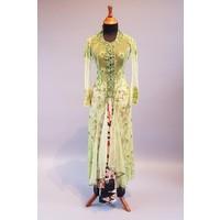 Bruids kebaya lime groen met bijpassende sarong