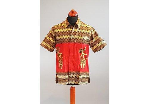 Batik overhemd korte mouw 2103-01