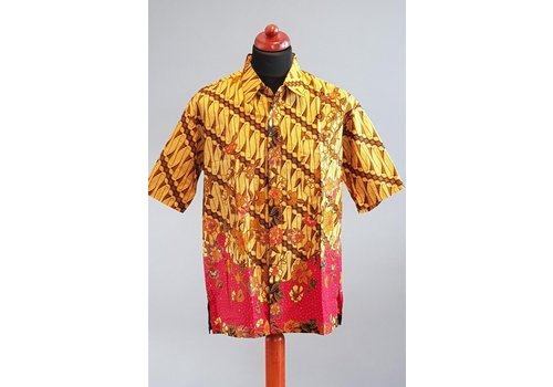 Batik overhemd korte mouw 2103-02