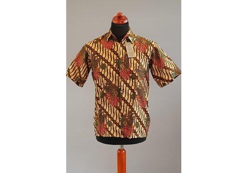 Batik overhemd korte mouw 2103-07