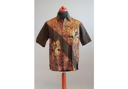 Batik overhemd korte mouw 2202-09