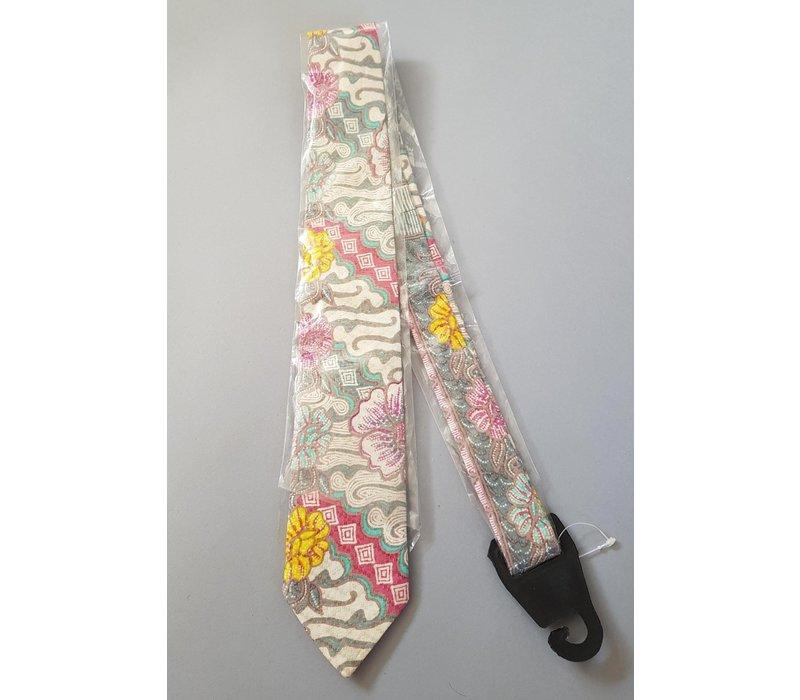 Batik stropdas Parang grijs