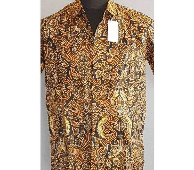 Batik overhemd korte mouw 0604-04
