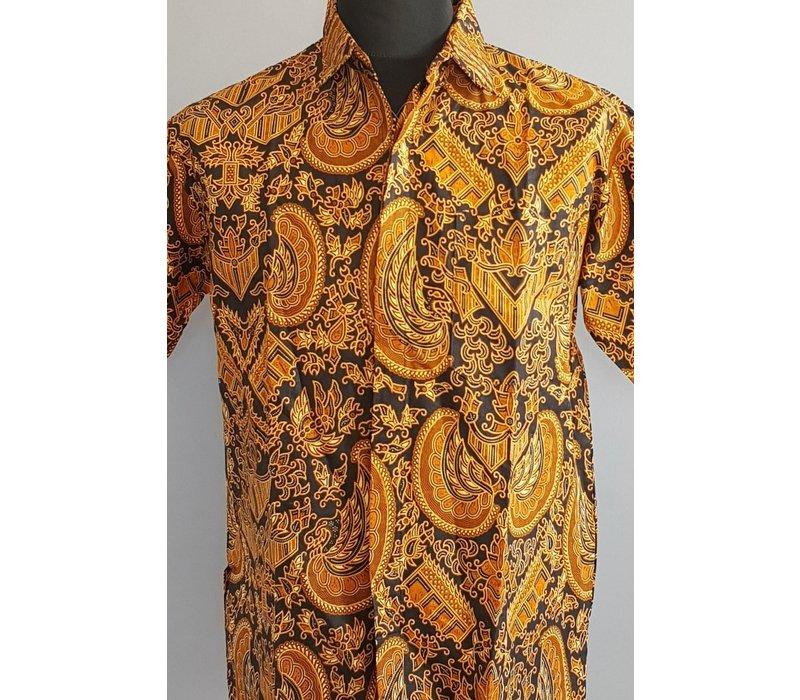 Batik overhemd korte mouw 0604-03