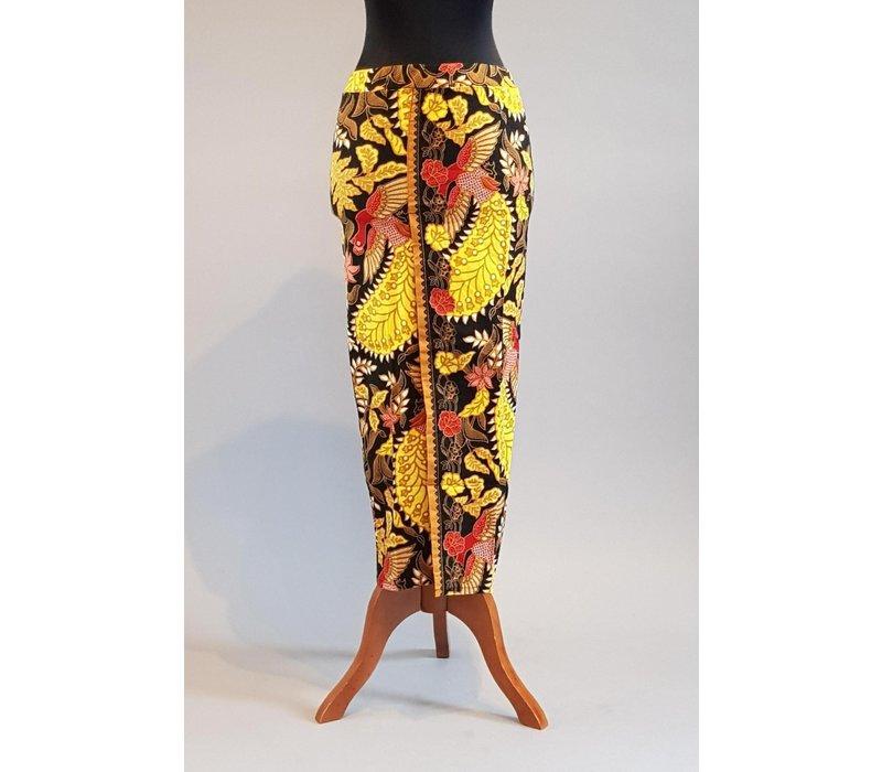 Kebaya Bali zwart geel met bijpassende sarong