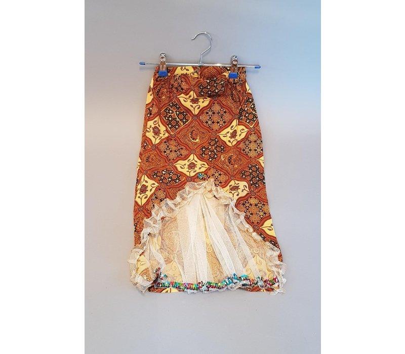 Kinder kebaya champagne met bijpassende sarong