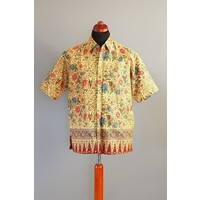 Batik overhemd korte mouw 0706-01