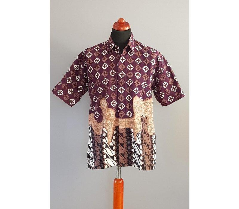 Batik overhemd korte mouw 0706-03