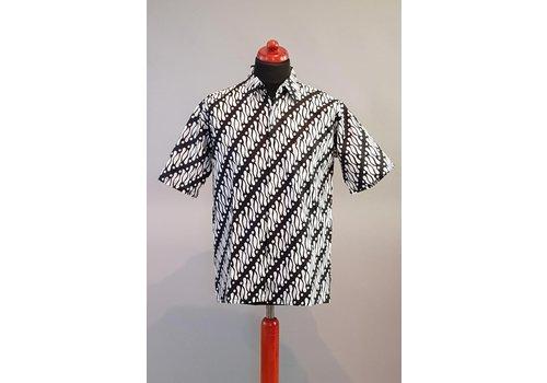 Batik overhemd korte mouw 2806-01