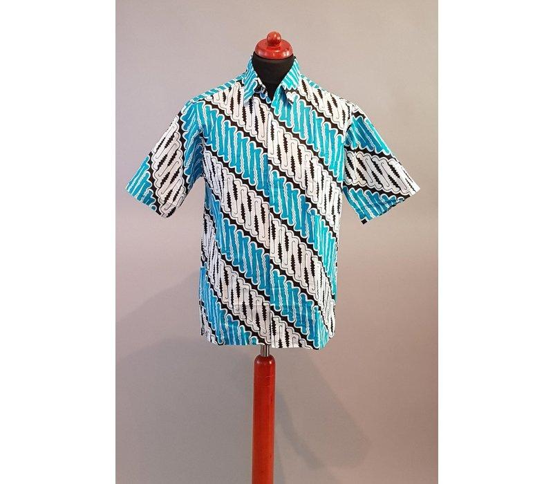 Batik overhemd korte mouw 2806-03