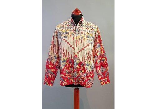 Batik overhemd lange mouw 2806-04