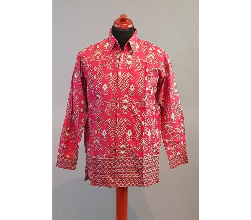 Batik overhemd lange mouw 2806-05