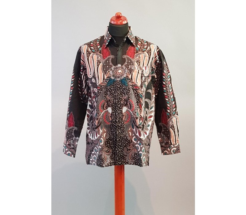 Batik overhemd korte mouw 2806-06
