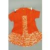 Kinder kebaya korte mouw oranje met bijpassende rok