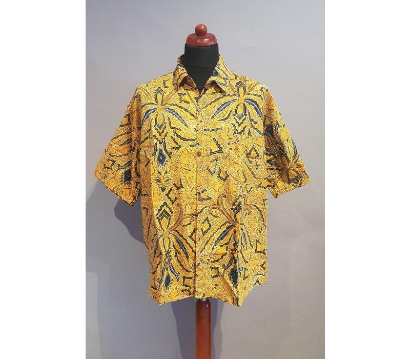 Batik overhemd korte mouw 0612-01